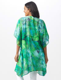 Palm Print Butterfly Cover Up - Navy - Back
