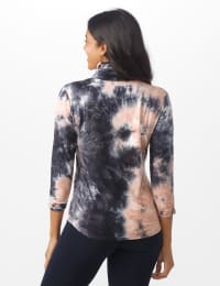 """""""Never Forget Your Modern Mask Top"""" Tie Dye Knit - Black - Back"""