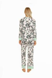 Long Sleeve Classic PJ Set - Aqua Floral - Back