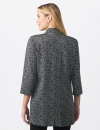 Printed Topper with Notch Collar - Black/white - Back