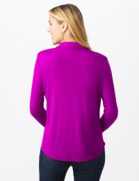Rayon Span Pique Shirt - Tropical Orchid - Back