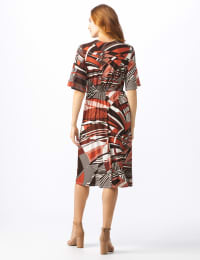 Modern  Wrap Dress - Misses - Rust - Back