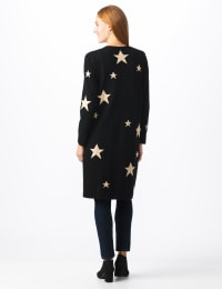 Roz & Ali Scattered Star Duster - Misses - Black/White - Back