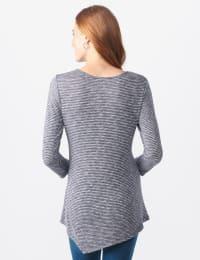 Westport Space Dye Sweater Knit Tunic - Navy - Back