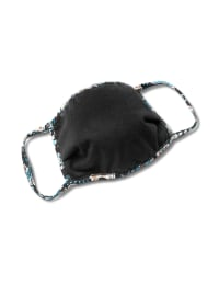 Teal Bohemian Fashion Mask - Teal - Back