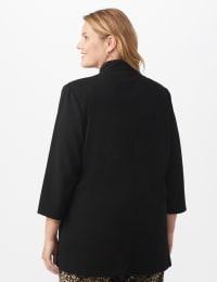 Notch Collar Open Topper- Plus - Black - Back