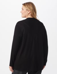Roz & Ali Everyday Cardigan - Plus - Black - Back