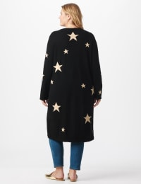 Roz & Ali Scattered Star Duster - Plus - Black/White - Back