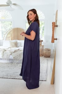 Curve Jaya Tunic - Plus - Midnight - Back