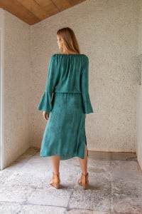 Allora Dress - Plus - Viper Green - Back