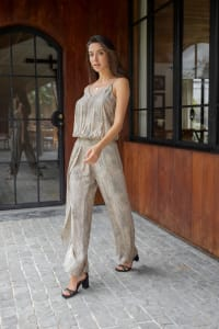 Ayla Jumpsuit - Plus - Viper Beige - Back
