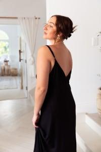 Curve Alanis Dress - Plus - Black - Back