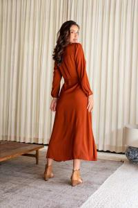 Eden Dress - Cayenne - Back