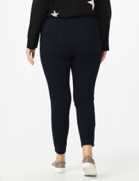 Plus Ultra Stretch Denim Pull on Legging - Plus - Dark Denim - Back