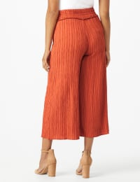 Cropped Palazzo Pant with Elastic Waistband - Misses - Back