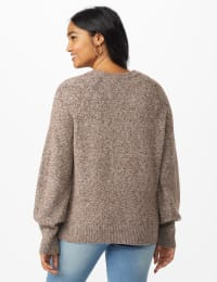 Westport Pointelle Sweater - Grey - Back
