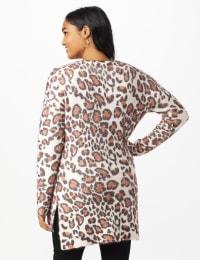 Roz & Ali Eyelash Animal Sweater Tunic - Multi - Back