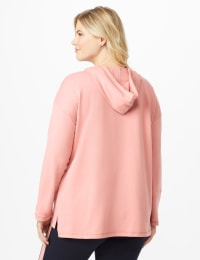 DB Sunday Kangaroo Pocket French Terry Hoodie - Plus - Mauve Pink - Back