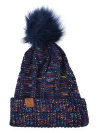 Extra Soft Novelty Knit Winter Hat - Navy - Back