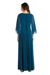Long Matte Chiffon Dress - Back