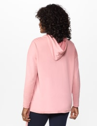 DB Sunday Kangaroo Pocket French Terry Hoodie - Mauve Pink - Back