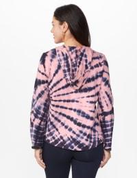 DB Sunday Tie Dye Hoodie - Mauve Pink - Back