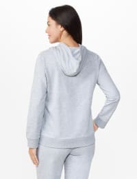DB Sunday Embellished Drawcord Hoodie - Grey - Back