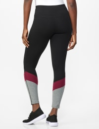 DB Sunday Colorblock Legging - Black/Burgundy - Back