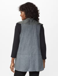 DB Sunday Faux Sherpa Vest - Misses - grey - Back