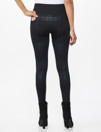 Elo Sportswear Black Plaid Legging - Black Plaid - Back