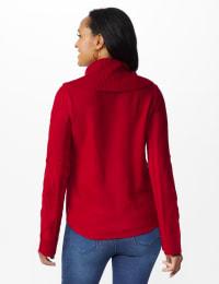 Westport Novelty Sleeve Curved Hem Sweater - Delicious Apple - Back