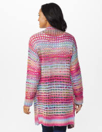 Westport Multi-Color Duster Cardigan - Multi - Back