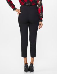 Roz & Ali Superstretch Pull On Ankle Pant with Crystal Heat Seal Trim - Misses - Black - Back
