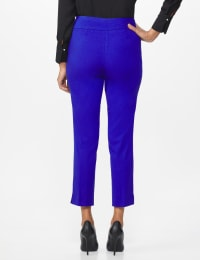 Roz & Ali Superstretch Pull On Ankle Pant with Crystal Heat Seal Trim - Misses - Blue Sapphire - Back