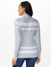 Stripe Tunic Sweater - Grey Combo - Back