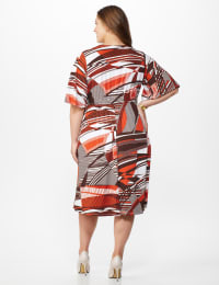 Modern Wrap Dress - Plus - Rust - Back