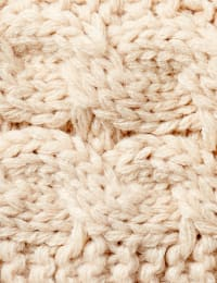 Cable Knit Braided Head Wrap - Back
