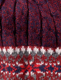 Fair Isle Hat and Mitten Set - Back