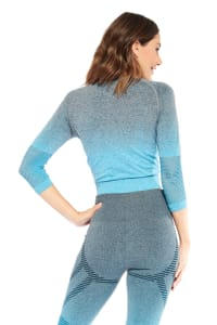 Lexi Long Sleeve Top - Blue - Back