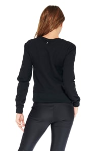 Kendall Panther Sweater - Black - Back