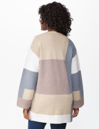 Westport Color Block Cardigan - Neutral Combo - Back