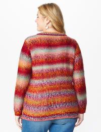 Roz & Ali Ombre Pullover Sweater - Plus - Back