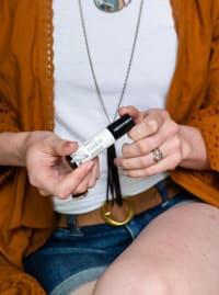 Lavender Mint- 10mL Eau de Parfum Roll-On - Amber Glass - Back