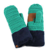 CC® Multi Color Mittens - Sea Green / Navy - Back