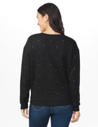DB Sunday Studded French Terry Sweatshirt - Black - Back