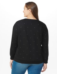 DB Sunday Studded French Terry Sweatshirt - Plus - Black - Back