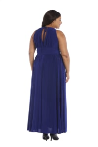 Maxi Dress with Embellishment - Plus - Royal Blue - Back