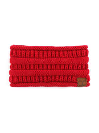 CC® Lined Pony Head Band - Red - Back