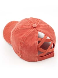 CC® Mask Compatible Criss Cross Cap - Burnt Orange - Back