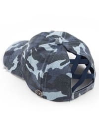 CC® Mask Compatible Criss Cross Cap - Blue Camo - Back